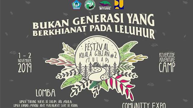 Festival Kuala Tulap 2..pesan penting... Kerusakan Lingkungan Hidup itu Nyata