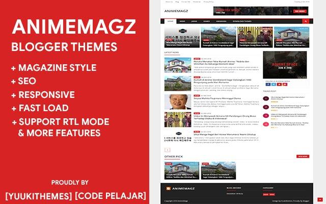 AnimeMagz v1.1.2 Blogger Themes