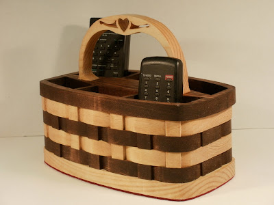 remote control organizer basket for 6 remotes