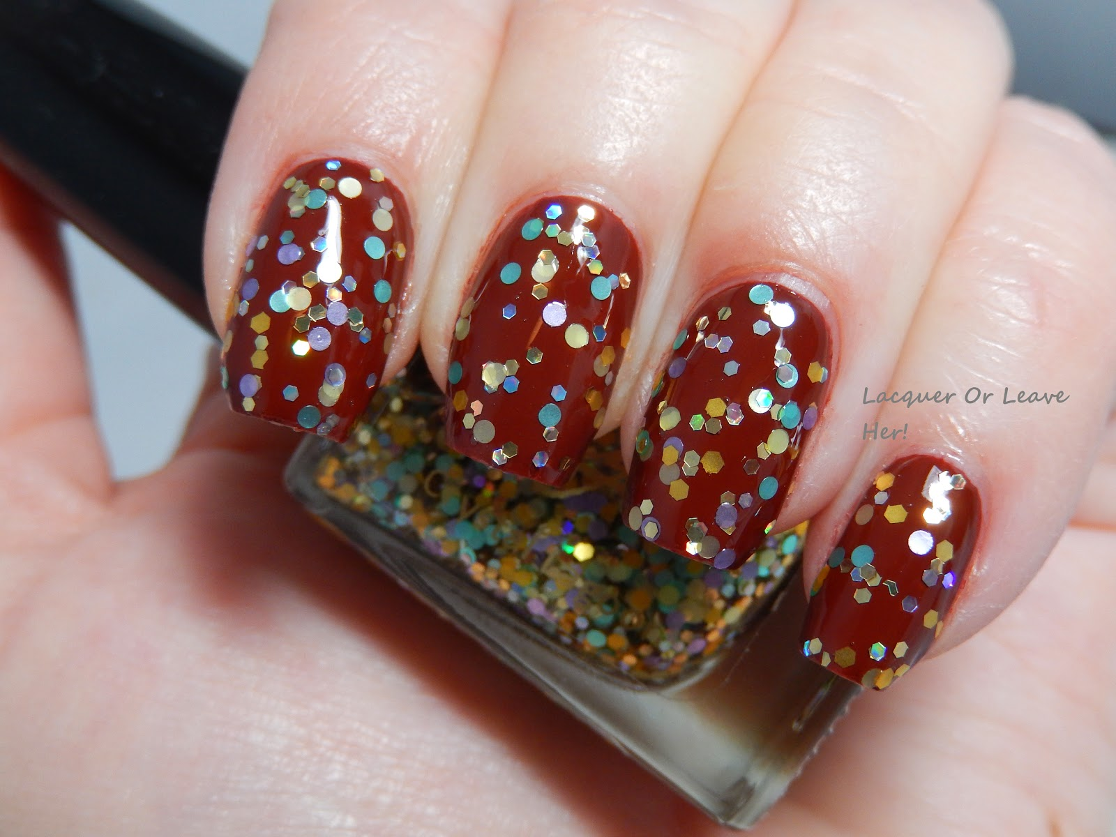 Nayll Crystal Lagoon over China Glaze Brownstone