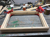 Gluing the frame together