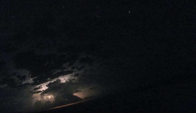молния на острове