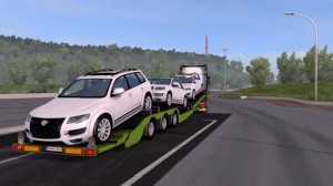 Trailer with Volkswagen cars