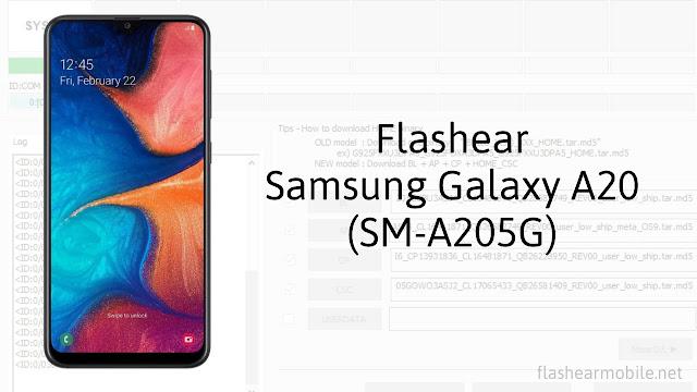 Flashear, instalar firmware de fábrica Samsung Galaxy A20 (SM-A205G)