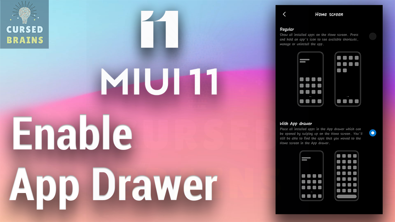 How To Enable App Drawer - MIUI 11 System Launcher - All Xiaomi Devices