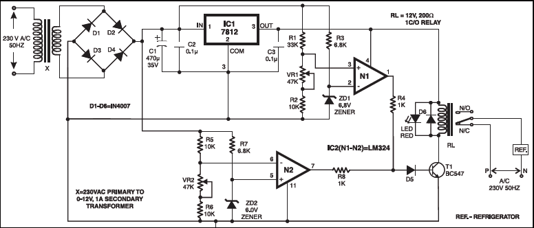 electronic voltage relay