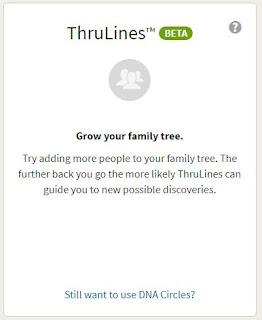 no AncestryDNA ThruLines