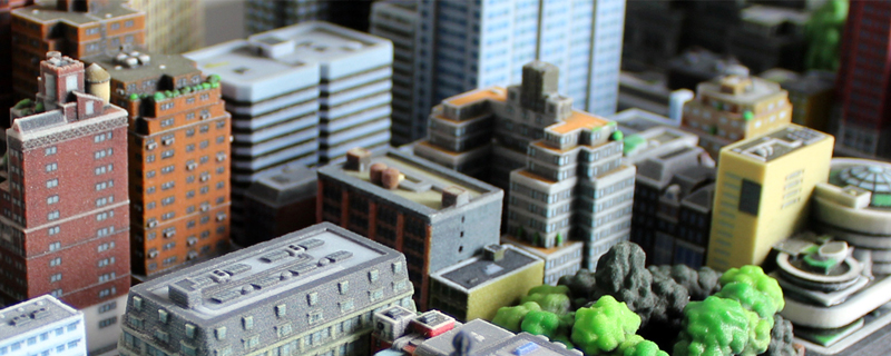 Impresión 3D de ciudades en miniatura