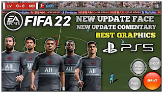 Download FIFA 2022 Android Camera PS5 Best Graphics New Update Commentary & Fixed Manager Mode
