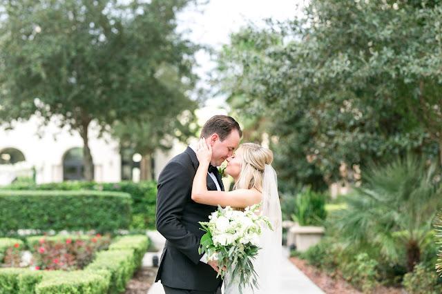 Bride and Groom taking wedding photos