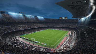 Camp Nou di PES 2018 ? Baguskan ?