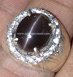 Cincin Batu Permata Cat Eye Silimanite