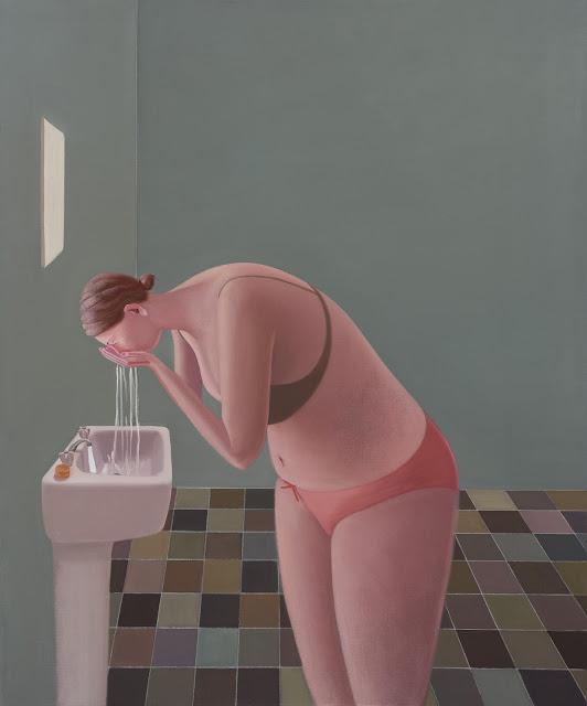 Prudence Flint, pinturas, imagenes de soledad femenina bonitas, chidas de arte inspirador, mujer, agua,