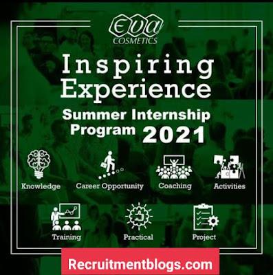 EVA Cosmetics Summer Internship Program 2021