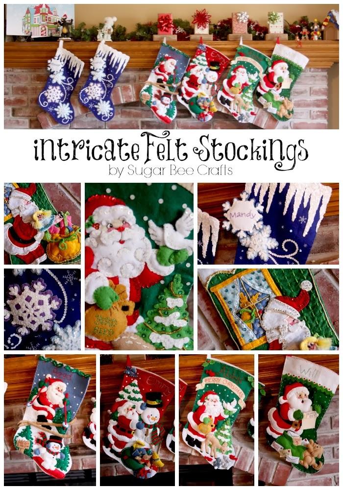 Bucilla Christmas Stocking Kits.Bucilla Felt Stocking Kits Super Intricate Christmas Stockings