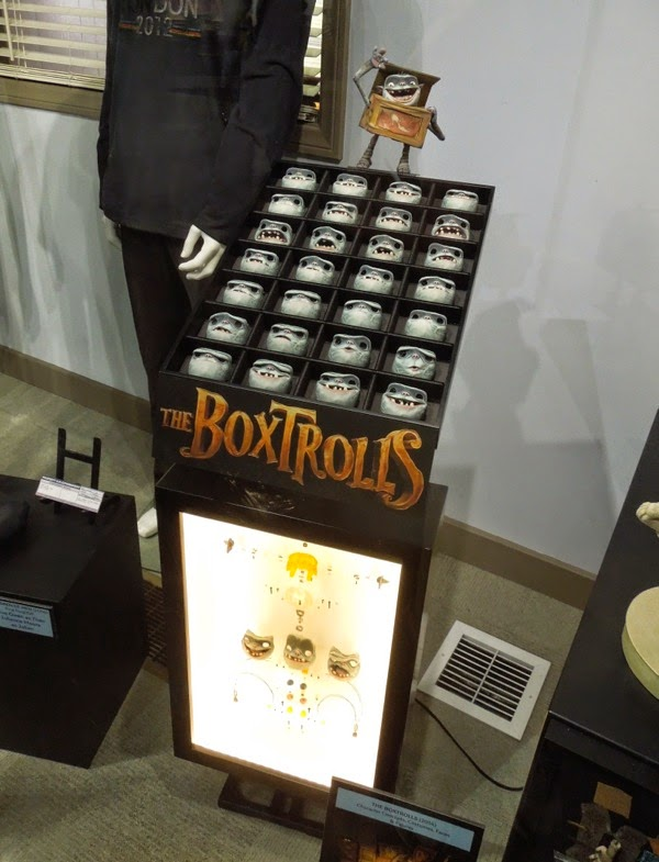 The Boxtrolls stop-motion faces components exhibit