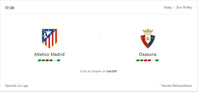 Atletico Madrid vs Osasuna Preview and Prediction 2021