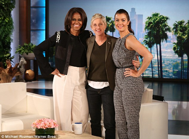 Michele Obama, Bellamy Young y Ellen DeGeneres