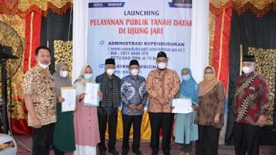 Pelayanan Publik Tanah Datar di Ujung Jari Diluncurkan