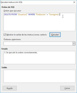 LibreOffice Base y SQL