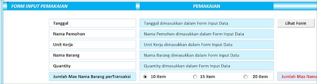 Aplikasi Excel Laporan Stock Persediaan Versi 4