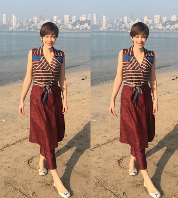 Kalki Koechlin in Anita Dongre Grassroot and Fizzy Goblet