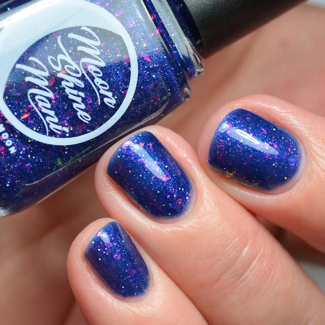 blue nail polish swatch