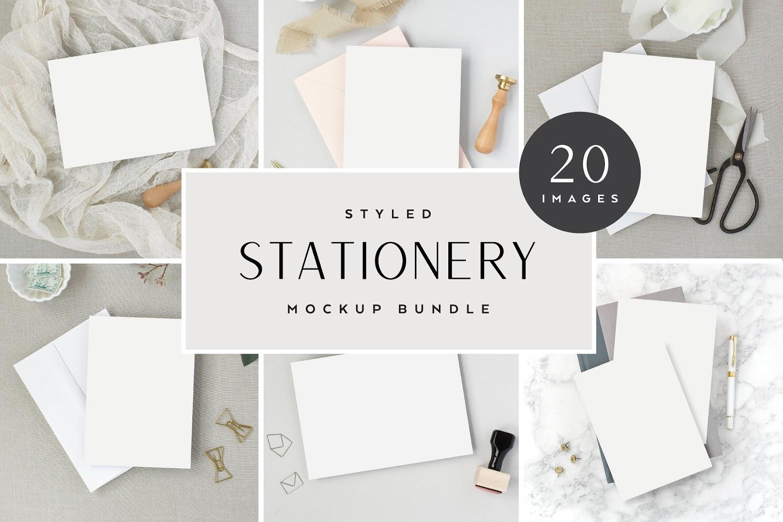 Neutral Styled Stationery Mockups