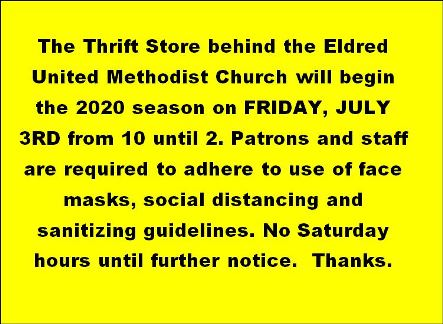 7/3 Thrift Store Opening In Eldred