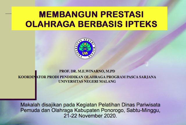 Materi Pelatihan Pelatih KONI & DISBUDPARPORA Kab. Ponorogo 21-22 November 2020