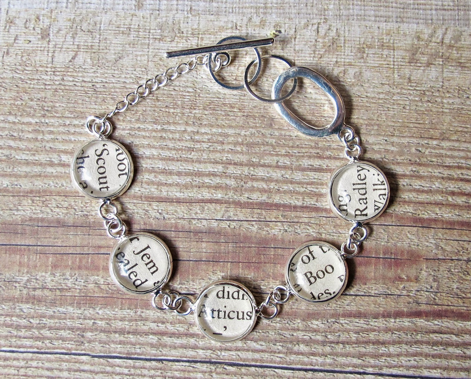 image two cheeky monkeys bracelet literature jewellery jewelry to kill a mockingbird atticus finch boo radley harper lee