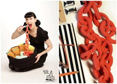 Como hacer imitación de cadenas a crochet