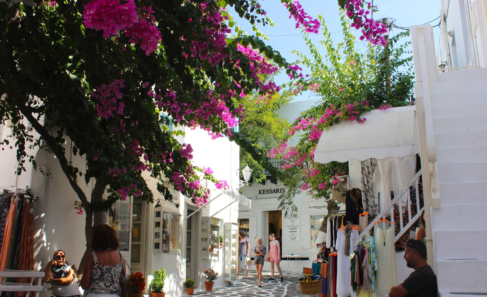 Flowers in Mykonos Town