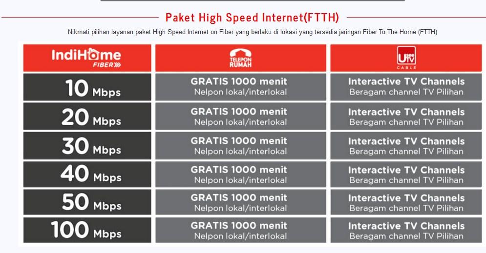 Internet Fiber Indihome