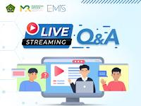 Live Streaming Q&A Emis 4.0 (Tanggal 22 Juni, 25 Juni, 29 Juni dan 02 Juli 2021)