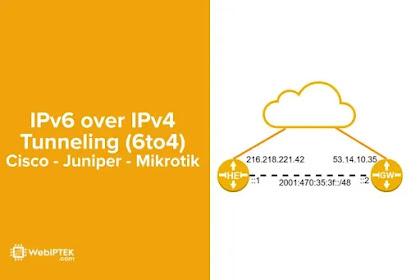 Konfigurasi 6to4 Tunneling pada Cisco, Juniper, dan Mikrotik (IPv6 over IPv4 Protocol 41)