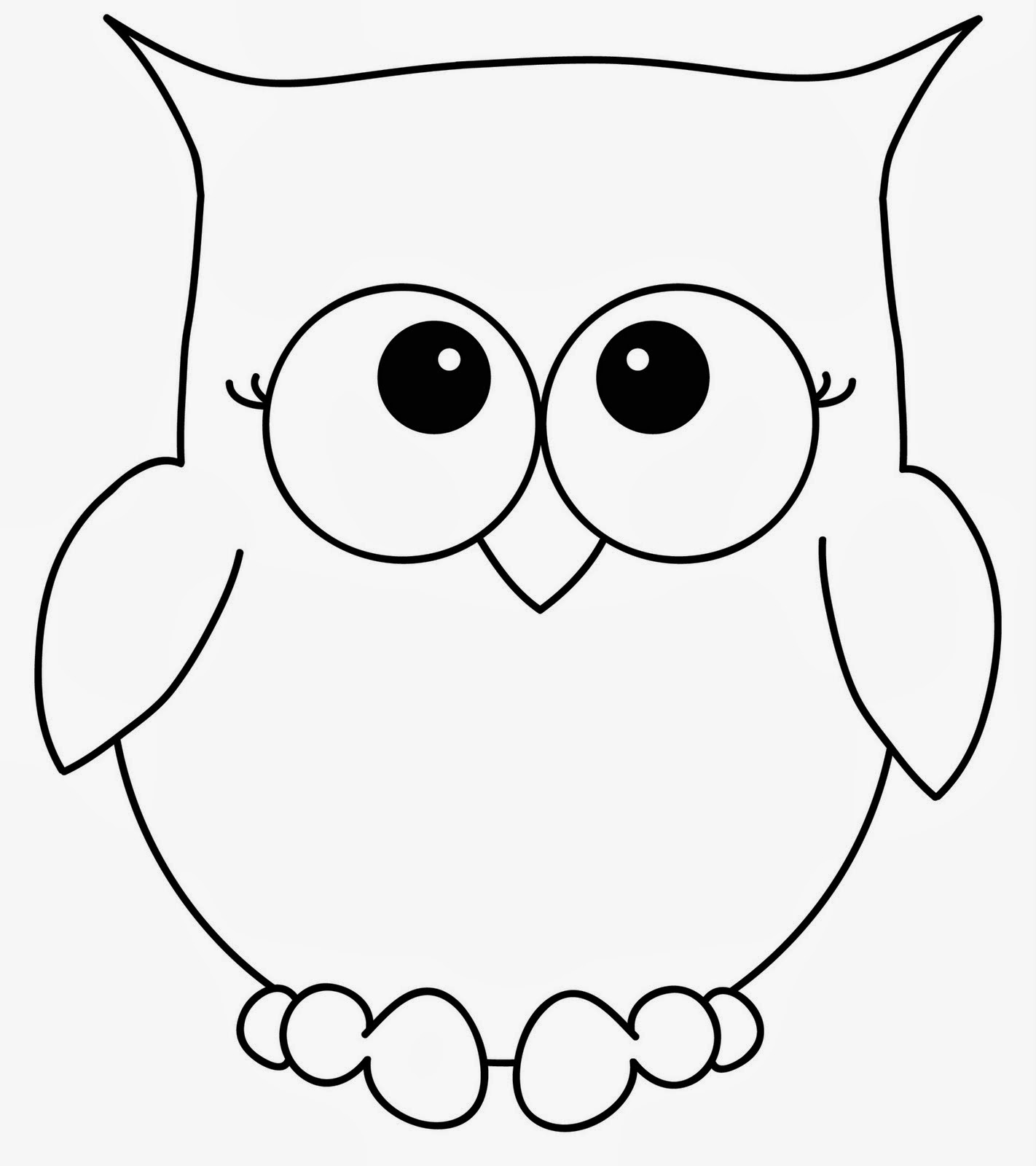 coloring pages of cute owls-#6