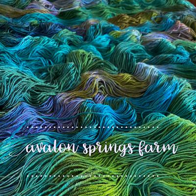 waves of jewel-toned yarn