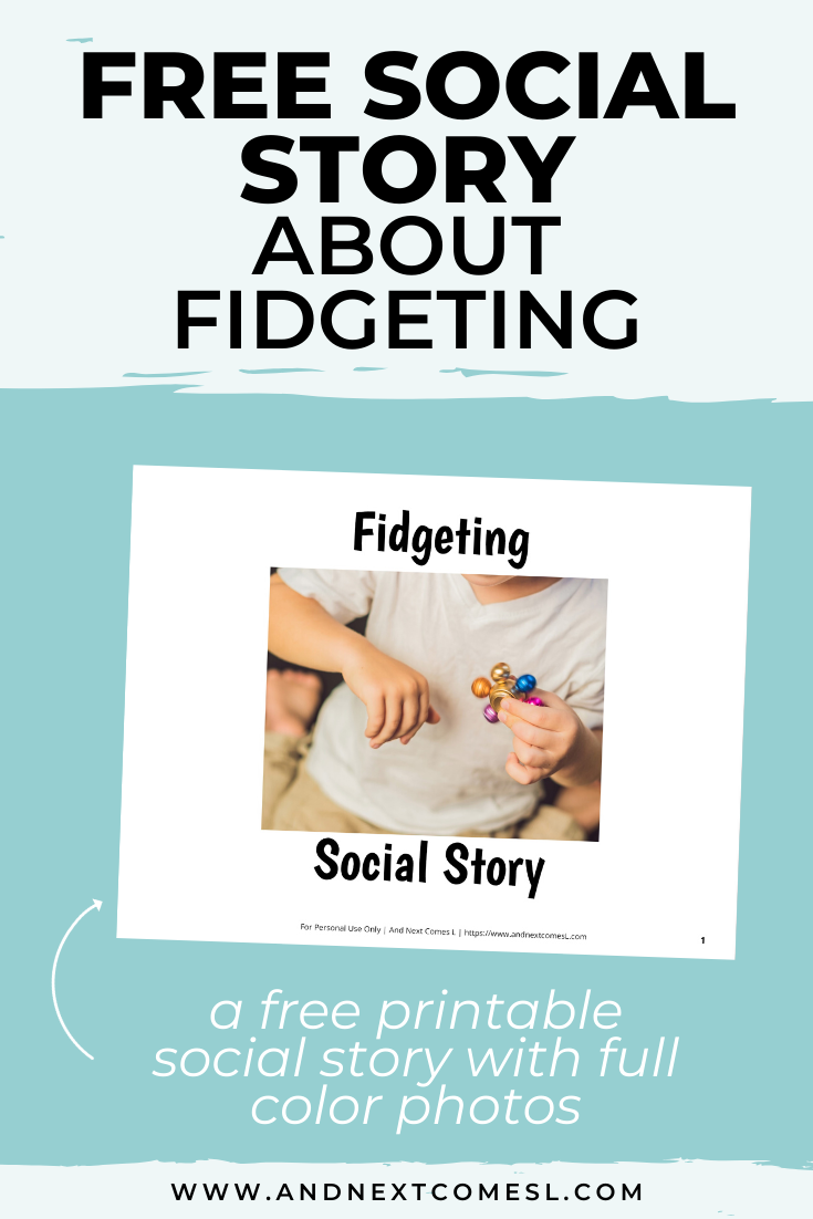 Free printable social story for kids with autism about fidgeting