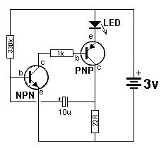 transistor checker circuit schematic