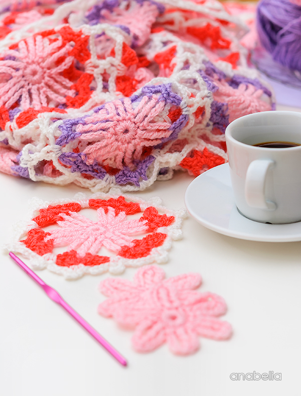 Summer crochet projects in hands