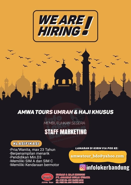 Lowongan Kerja PT.Amanah Mulia Wisata ( Amwa Tour Haji Khusus & Umrah) Bandung Februari 2020