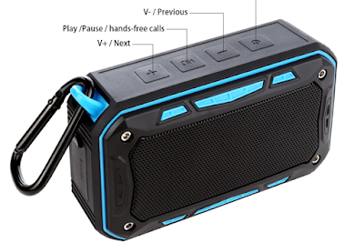TOPROAD Portable IP67 Waterproof Bluetooth Speaker