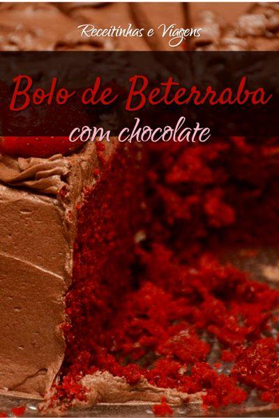 Receita de bolo de beterrraba com cobertura de chocolate
