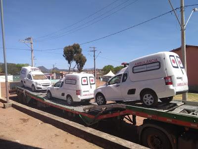Piatã/BA: Com recursos próprios Prefeitura adquire 3 novas Ambulâncias para reforçar os serviços de saúde no município