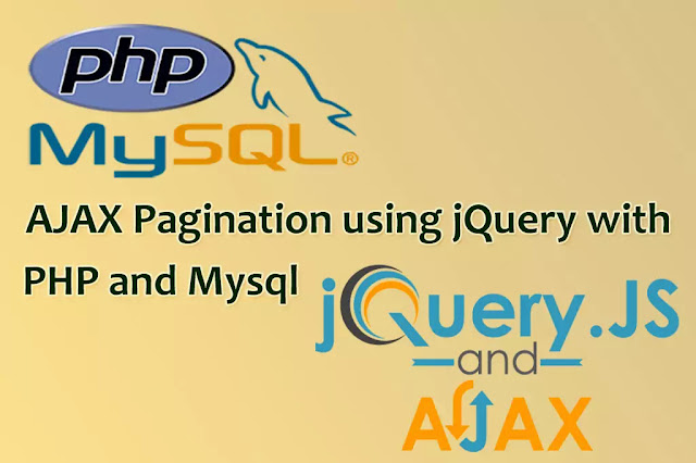 ajax pagination in php with next and previous, Ajax Pagination using jQuery with PHP and MySQL