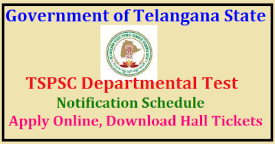 TSPSC departmental test notification 2019-2020 May/Nov session
