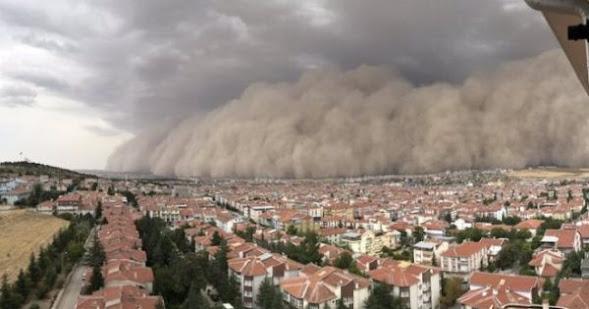 Βιβλική αμμοθύελλα χτύπησε την Άγκυρα video