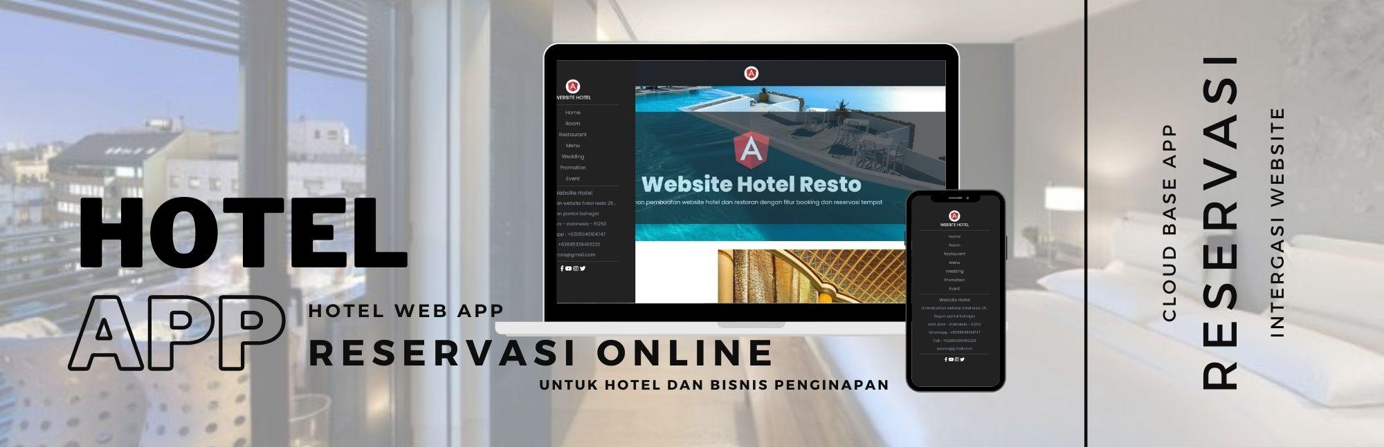 pembuatan website aplikasi hotel modern terbaru