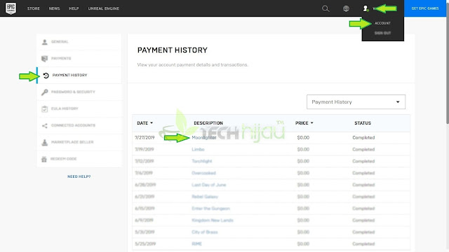 Moonllight Halaman payment history - Tech Hijau™